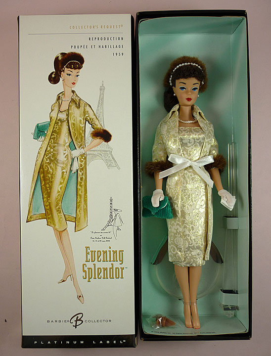"""Fashion Collectible Photo Card Mattel /"""" A Night Out  /"""" Barbie Doll Postcard"""